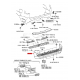 PARACHOQUES TRASERO J12 (GX) ORIGINAL TOYOTA LAND CRUISER