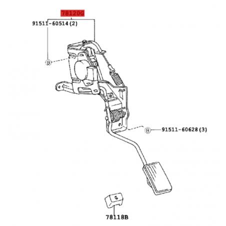 PEDAL ACELERADOR ELECTRONICO  J10  ORIGNAL TOYOTA LAND CRUISER