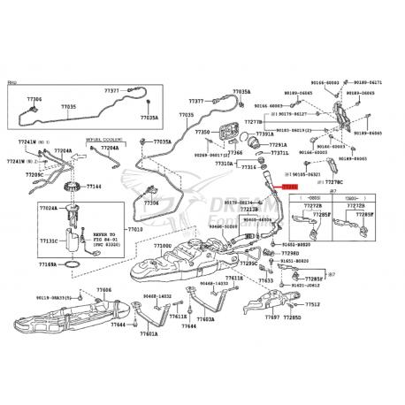 DOBLE BOCA DE LLENADO, GASOIL J20 ORIGINAL TOYOTA LAND CRUISER