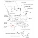 TUBO Nº1 DEPOSITO COMBUSTIBLE ADICIONAL J20 ORIGINAL TOYOTA LAND CRUISER