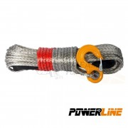 CABLE SINTETICO 10mmx28m 8500kg COLOR SILVER POWERLINE