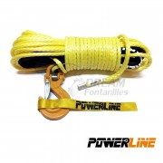 CABLE SINTETICO 10mmx28m, 10500kg COLOR AMARILLO POWERLINE