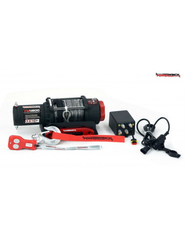 CABRESTANTE WINCH 4,5K (2.040KG) 12V - ATV - CABLE PLASMA POWERWINCH