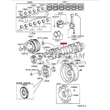 CIGÜEÑAL  HDJ-80 MOTOR 6 CILINDROS